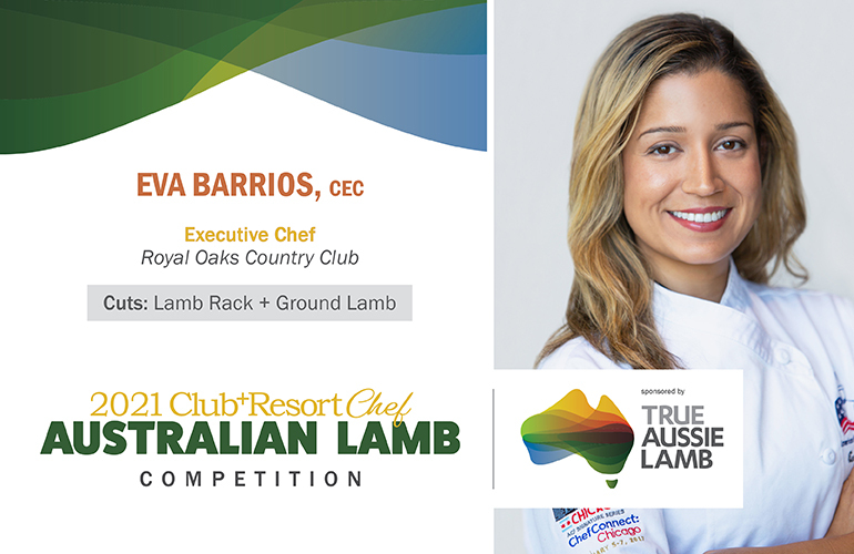 Royal Oaks CC's Eva Barrios Submits Lamb Empanadas and Herb Butter Roasted Rack of Lamb to 2021 Australian Lamb Competition